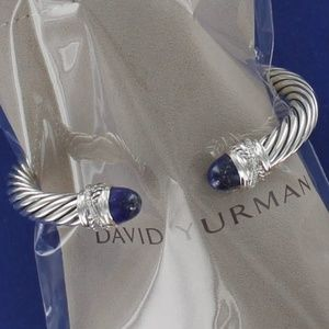 David Yurman Lapis Diamond Cuff Bracelet 7mm